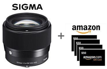 Sigma Lens and $50 Amazon Gift Cards