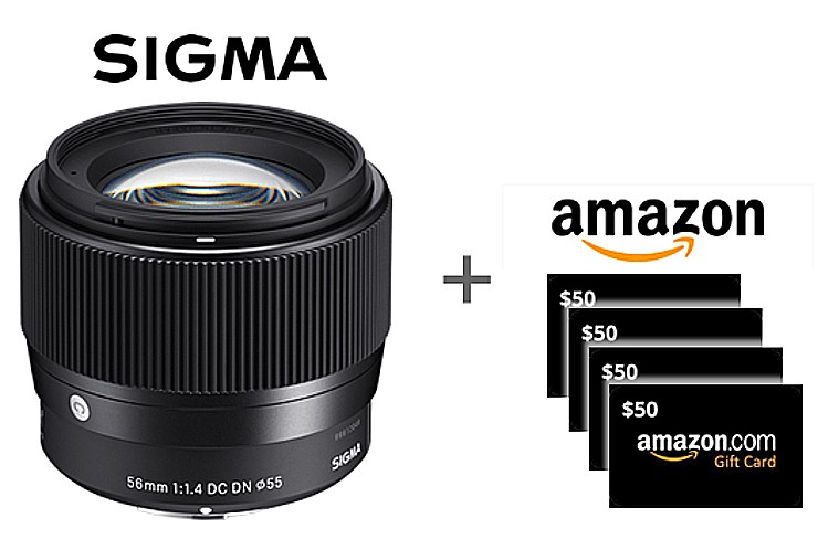 Sigma Contemporary Lens + Amazon Gift Card