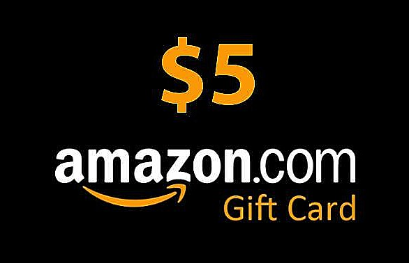 Two $5 Amazon Gift Cards